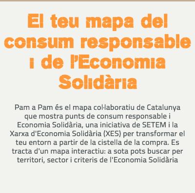 pam a pam, mapa de l'economia solidaria i consum responsable