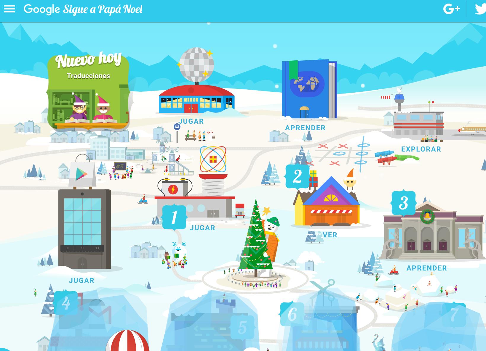 Santa Tracker de Google - Calendari Interactiu d'Advent